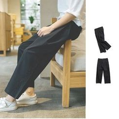 Chuoku - Capri Wide-leg Pants