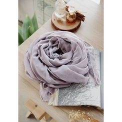 GOROKE - Lace-Trim Light Long Scarf