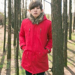 SeventyAge - Furry-Trim Hooded Parka