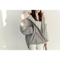 UPTOWNHOLIC - Faux-Fur Padded Jacket