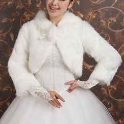 Bridal Workshop - Crop Faux Fur Jacket