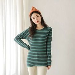 JUSTONE - Round-Neck Stripe T-Shirt