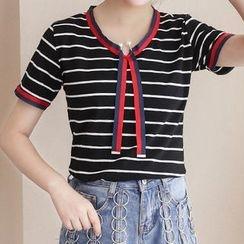 Adima - Stripe Short-Sleeve T-shirt