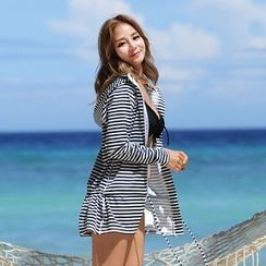 Tamtam Beach - Striped Hooded Surf Top