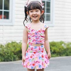 Goldlyre - Kids Set: Printed Swim Top + Swim Skirt