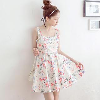 Tokyo Fashion - Floral Sleeveless Skater Dress