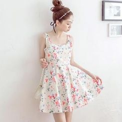 Tokyo Fashion - Floral Sleeveless Skater Dress
