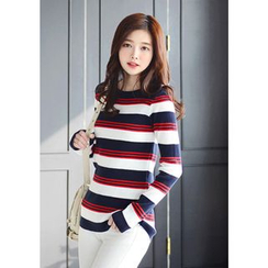 DEEPNY - Stripe Ribbed Top