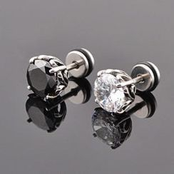 Trend Cool - Titanium Steel Rhinestone Earrings