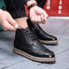 HANO - 仿皮鬆糕鞋