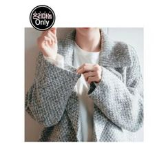Chlo.D.Manon - Notched-Collar Wool Blend Knit Coat