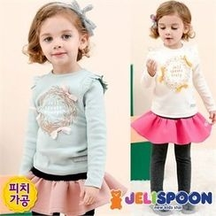 JELISPOON - Girls Printed Frilled Top