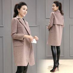 Sienne - Plain Wool Coat