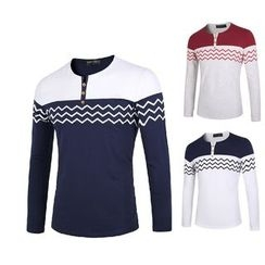Blueforce - 山形紋長袖扣領衫