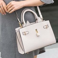 Axixi - Lock Accent Belted Satchel