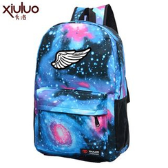 Super Duper - Wing Printed Galaxy Backpack