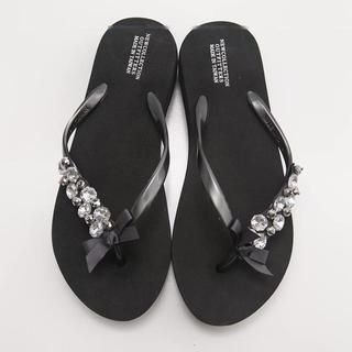 FM Shoes - Jeweled Flip-Flops