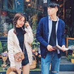 FULLHOPE - Couple Matching Cable-Knit Cardigan