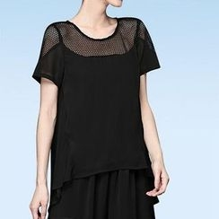 Mythmax - Short-Sleeve Paneled Top