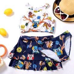 Dolfin - 猫头鹰图案坦基尼泳衣