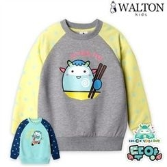 WALTON kids - Kids Raglan-Sleeve Printed Pullover