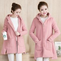 Soswift - Maternity Hooded Long Jacket