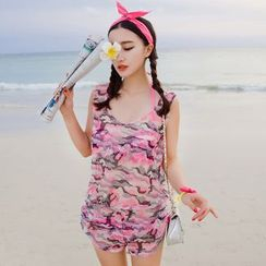 DJ Design - Set: Printed Bikini + Cover-up