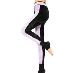 Crytelle - Fleece-Lined Stirrup Leggings