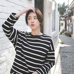 mimi&didi - Zip-Side Striped T-Shirt