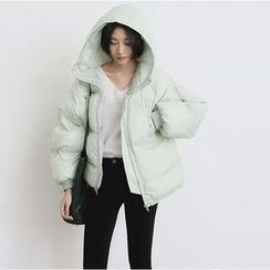 Jolly Club - Hooded Padded Zip Jacket