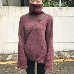 monroll - Turtleneck Melange Sweater