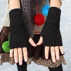 Nirvana Nation - Cable-Knit Fingerless Gloves