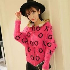 Rosehedge - Hooded Thick Knit Jacket