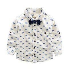 Kido - 兒童機車印花襯衫