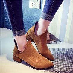 QQ Trend - Low Heel Ankle Boots