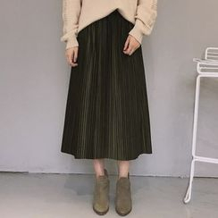 Windbird - Pleated Midi Skirt