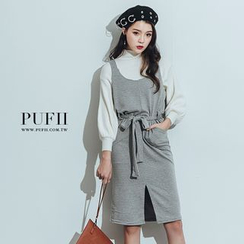 PUFII - Ribbed Knit Dress