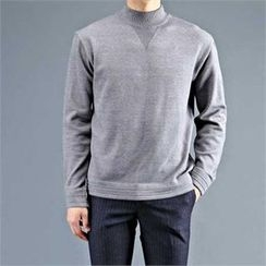 THE COVER - Mock-Neck Wool Blend Sweater