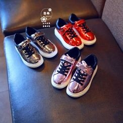 BOOM Kids - Kids Metallic Lace-Up Sneakers
