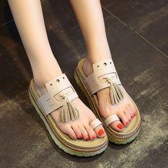 Yoflap - Tassel Toe Loop Sandals