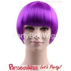 Party Wigs - PartyBobWigs - 派对BOB款短假发 - 萤光紫