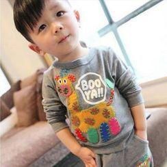 三零九班 - 小童套裝: 貼布繡套衫 + 運動褲
