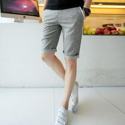 Fisen - Contrast Trim Drawstring Shorts