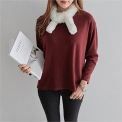 PEPER - Drop-Shoulder Plain T-Shirt