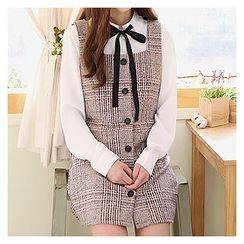 Sechuna - Sleeveless Wool Blend Mini Dress