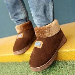 JY Shoes - Plain Furry Home Slip-Ons