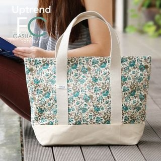 Uptrend - Floral-Print Cotton Tote