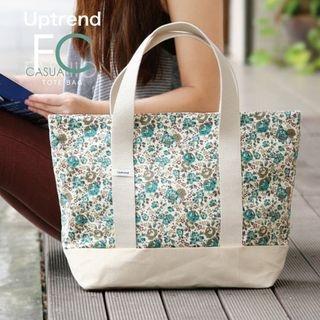 Uptrend - Floral-Print Cotton Tote