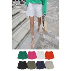 PPGIRL - Band-Waist Colored Shorts