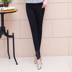Romantica - Lace Panel Leggings